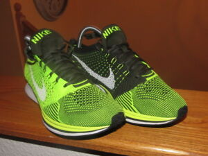 9e682255b2beee Image is loading Nike-Flyknit-Racer-Volt-SAMPLE-USA-HTM-MILAN-