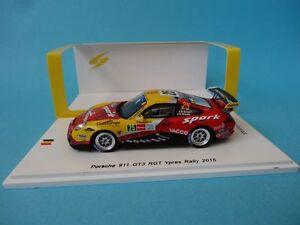 PORSCHE-911-GT3-RGT-997-25-ROMAIN-DUMAS-RALLY-YPRES-2015-1-43-NEW-SPARK-SB104