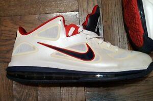 best loved ac620 aebca Image is loading Nike-Air-Max-LEBRON-IX-9-USA-OLYMPIC-