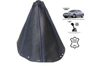 Schaltmanschette-Schaltsack-Fur-Ford-Mondeo-MK3-2001-2003-Leder-Naht-Blau