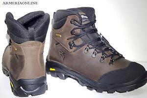 Dettagli su Scarponi da trekking uomo stivali in pelle scarpe caccia pesca montagna anfibi