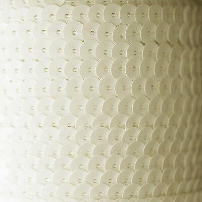 Symbool Van Het Merk Sequin String Trim ~ Satin White ~ 6mm Flat Strung By The Yard Made In Usa