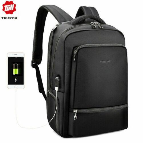 Hydrofuge Nylon Anti vol ordinateur portable Sac à dos USB Recharge Voyage Cartable