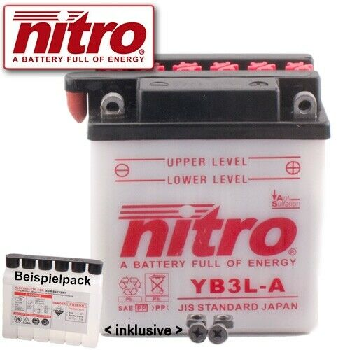 1987 Nitro YB3L-A Batterie Honda MTX80 R2 HD09 Bj
