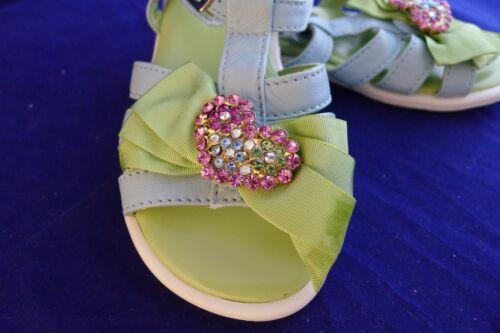 UK 6 New I Pinco Pallino blue and green leather sandals size EU 23