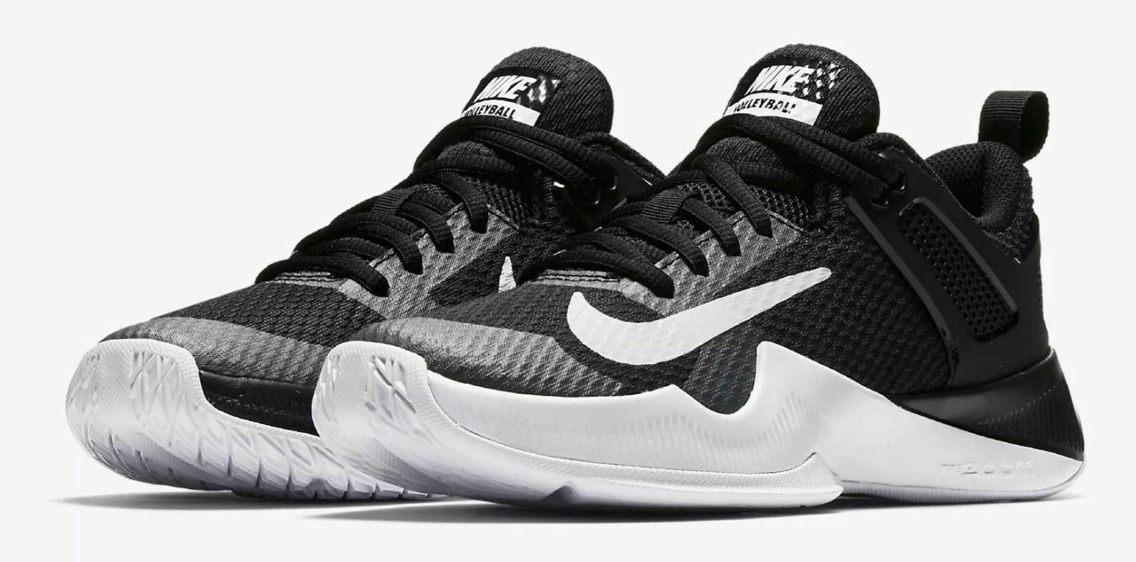 NEW Sz 12 Women's Nike Air Zoom Hyperace Nike Volleyball Black White 902367-001