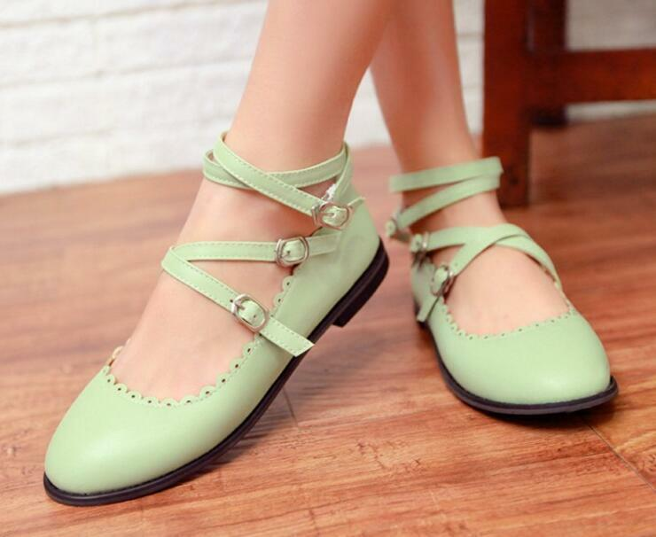 Hot Mary Jane Fashion Women's Ankle Strap Sweet Party Casual Leisure shoes Size