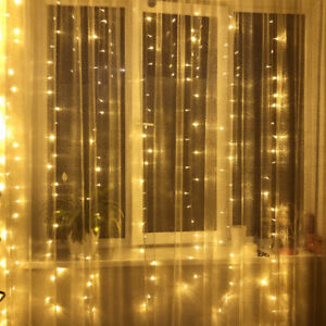 3M-LED-Fairy-Curtain-String-Lights-Wedding-Party-Xmas-Room-Decor-Perfect-Holiday