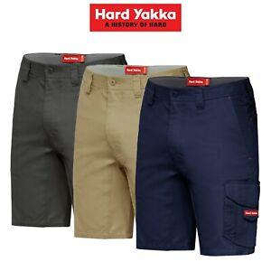 Mens-Hard-Yakka-Koolgear-Vented-Cargo-Shorts-Light-Tough-Tradie-Summer-Y05140