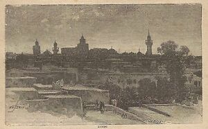 A0013-Tunisi-Veduta-Stampa-Antica-del-1907-Xilografia