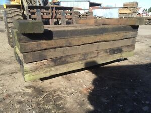 Wooden-Railway-Sleepers-Timbers-300mmx150mmx2600mm-Landscaping-Farming-Fencing
