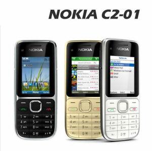 Nokia C2-01 3G phone 3.15MP Camera FM MP3 MP4 Player QWERTY Keyboard Original