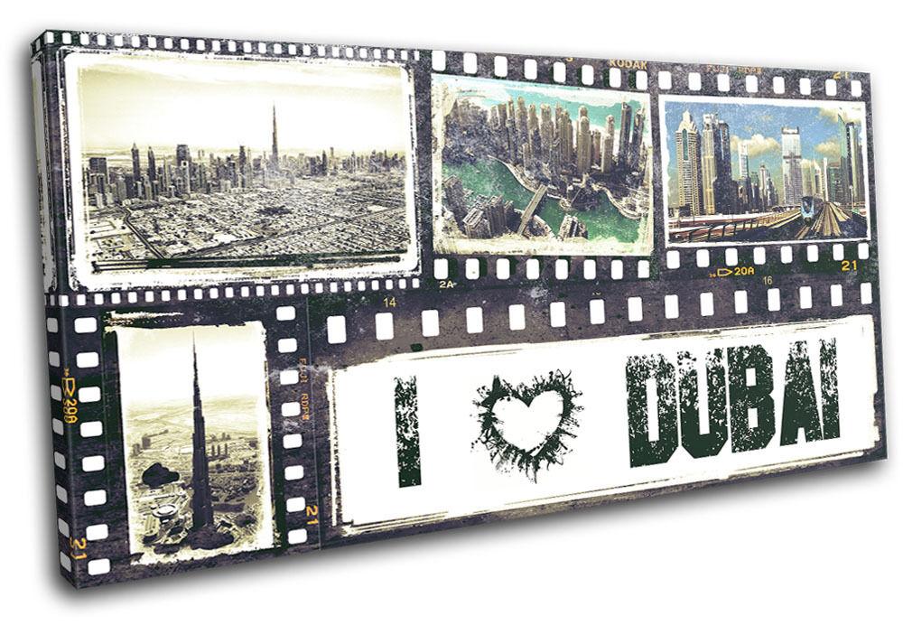 Dubai Grunge City SINGLE TOILE murale ART Photo Print
