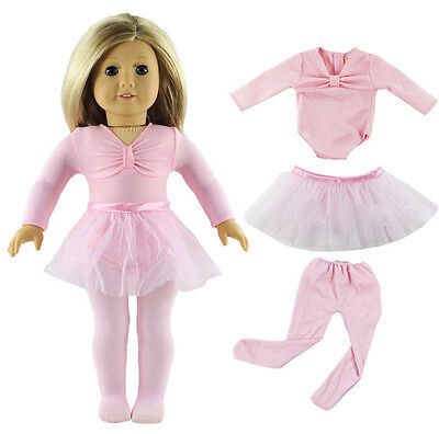 Hot Handmade Pink Doll Clothes Ballet Dress Fit for 18 Inch American Girl Dolls