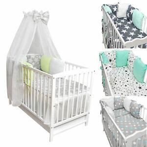 Baby Bettwäsche Set 2 3 4 5 6 Pc 120x60 cm Gitterbett Steppdecke Decke Kissen