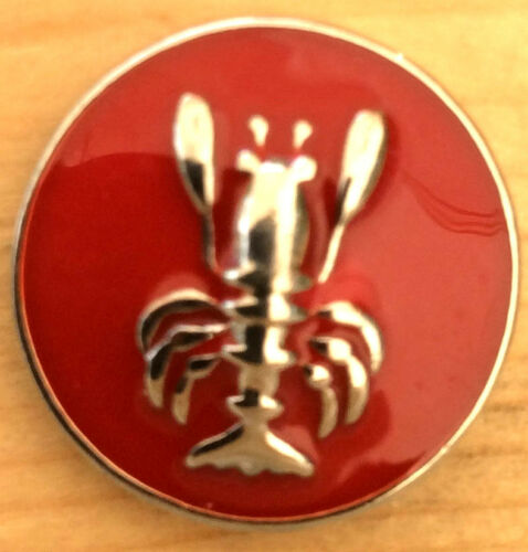 Snap.Chunk Button 20mm Red Silver Lobster Charm For Ginger Snap Style Jewelry