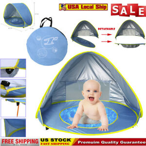 Baby-Beach-Tent-Portable-Shade-Pool-UV-Protection-Sun-Shelter-For-Infant-Bag-USA