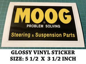 MOOG PROBLEM SOLVING STEERING SUSPENSION PARTS DECAL STICKER - VINTAGE NASCAR