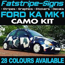 FORD KA MK1 GRAPHICS CAMO STICKERS DECALS BONNET ROOF CAMOUFLAGE ST ZETEC SPORT