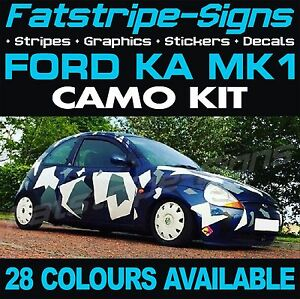 Image Is Loading Ford Ka Mk Graphics Camo Stickers Decals Bonnet