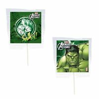 12 Hulk Smash Lollipops Candy For Party Favors Made In The U.s.a
