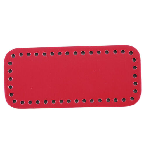 Rectangle PU Leather Bag Bottom Hole Crocheted Bag Bottom DIY Accessories shan