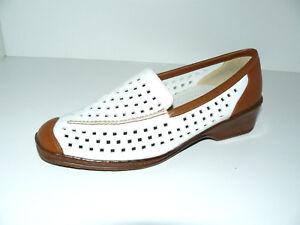 super popular 065df 48336 Details zu ARA Slipper Damen Halb Schuhe Sommer 40 G UK 6,5 weiß Leder  Lochmuster TOP