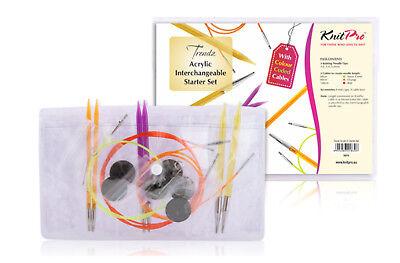 Knitpro Spectra Trendz Acrílico Juego de Inicio 50616 Agujas de Tejer