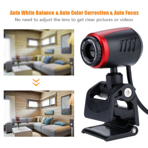 USB 2.0 16MP HD WebCam Auto Web Camera Video with Mic for MSN Skype Desktops PC