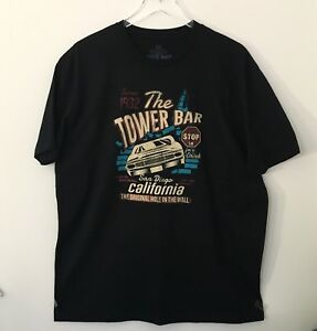 Dive-Bar-Vintage-Fit-034-The-Tower-Bar-034-San-Diego-CA-Black-Sz-XL-Short-Sleeved
