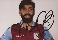 Aston Villa: José Ángel Crespo Firmado Foto Retrato 6x4 + certificado De Autenticidad