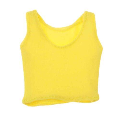 1//6 Scale Female Slim Vest for 12/'/' HT//Hot Plus//Phicen Action Figure Dolls