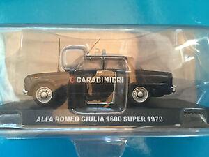 DIE-CAST-034-ALFA-ROMEO-GIULIA-1600-SUPER-1970-034-SCALA-1-43-CARABINIERI