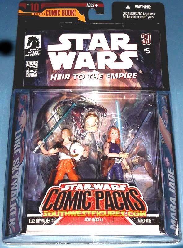 10 Luke Skywalker & Mara Jade Action Figures +Comic Book 2007