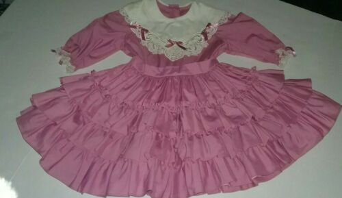 Vintage Girls Size 5 Lilo California Ruffles Dress
