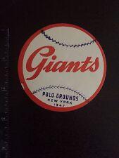 1947 New York Giants Polo Grounds Baseball Decal