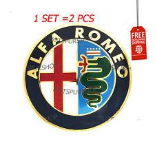 2pcs 74mm. New ALFA ROMEO Car Logo emblem Badge sticker for ALFA ROMEO Mito