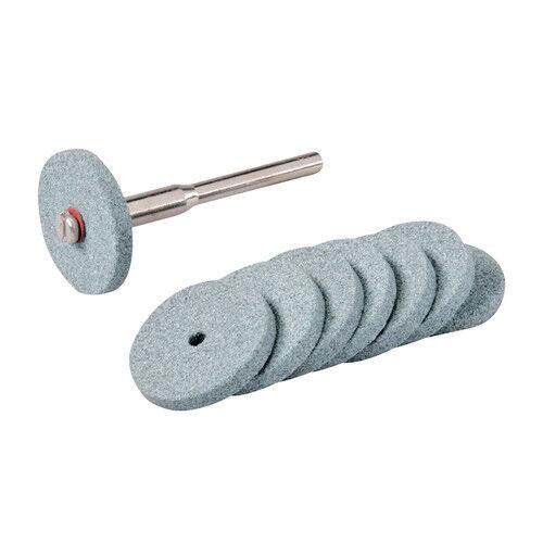 8 Mini-Schleifscheiben D 20mm SIC , mit Schaft 3,17mm, Schleifscheibe