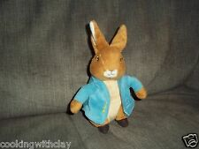 THE ORIGINAL PETER RABBIT Beatrix Potter Plush Stuffed Bunny Blue Jacket 2010