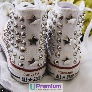 97b671f7a740 Converse All Star Las Vegas Chaussures Cloutés Fait À La Main Clous ...