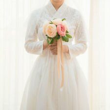 [Korea Costume Life Hanbok] One Piece Waist Skirt Set White Swan Race Wedding