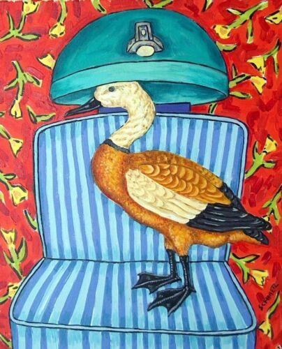 rudy shelduck duckart  poster gift modern folk hair salon 13x19  GLOSSY PRINT