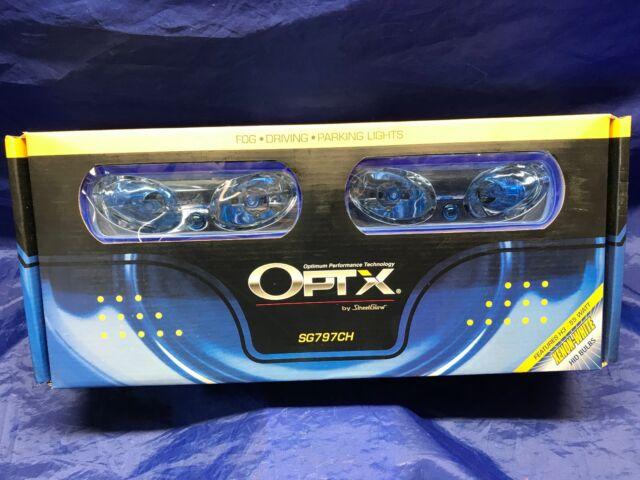 StreetGlow OPTX SG797CH Fog Driving Lights Bright Xenon White Universal on
