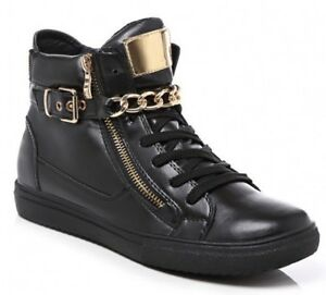 NEW-Women-Ladies-Black-Hi-Top-Wedge-Trainers-Sneaker-Pumps-Sport-Ankle-Boot-Size