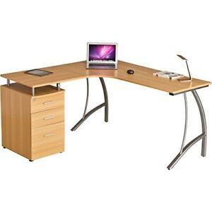 Image Is Loading Computer Desk Corner Drawer Lockable Pedestal Filing Cabinet