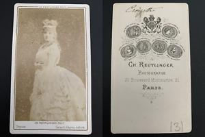 Reutlinger-Paris-Sophie-Croizette-actrice-Vintage-carte-de-visite-CDV