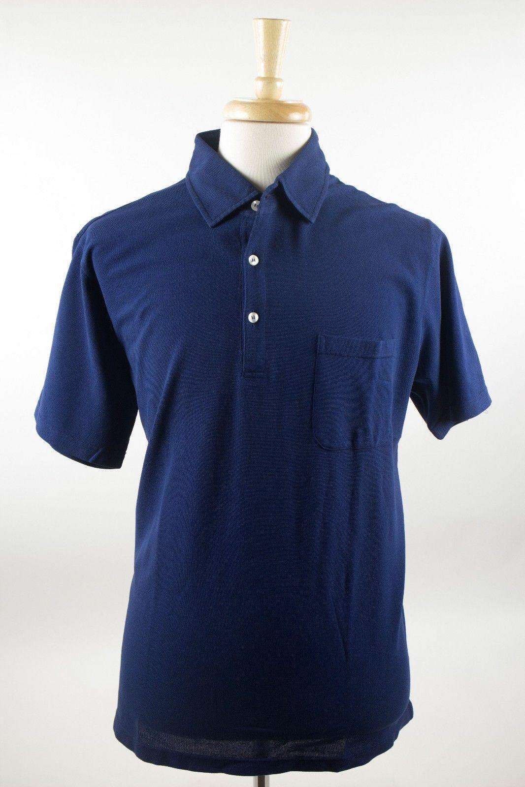 NWT Davide Cenci Luxurious bluee 100% Cotton Casual Polo Shirt 46 56