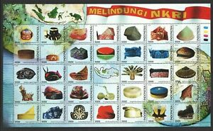 INDONESIA-2018-TRADITIONAL-HEADDRESS-HATS-LARGE-SOUVENIR-SHEET-OF-35-STAMPS-MINT