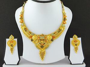 Indian Bollywood Fashion Jewelry Gold Plated Women Wedding Necklace
