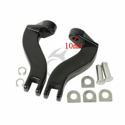 Rear Foot Pegs Peg Bracket Fit For Harley Touring Electra Street Glide 1993-2020